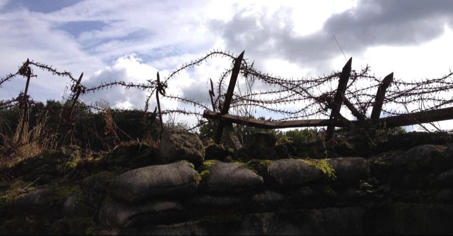Sicht aus einem deutschen Schützengraben bei Vauquois